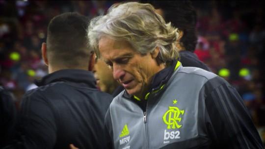 Jorge Jesus vive primeiro momento de frustração no Flamengo