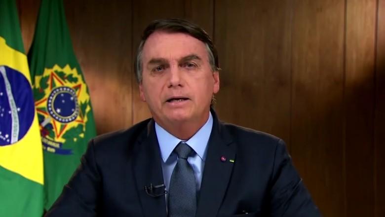 Jair Bolsonaro, em pronunciamento na ONU (Foto: Reprodução)