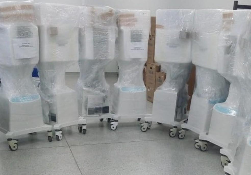 Novos respiradores recebido pela Prefeitura de Piracicaba — Foto: Divulgação/ Prefeitura de Piracicaba