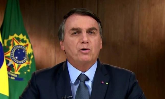 Presidente Jair Bolsonaro em discurso na Assembleia Geral da ONU