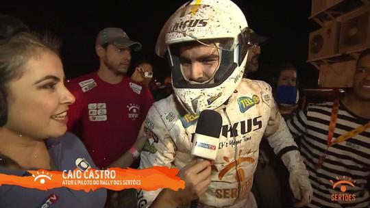 Ator Caio Castro capota, mas sai ileso na abertura do Rally Sertões 2019