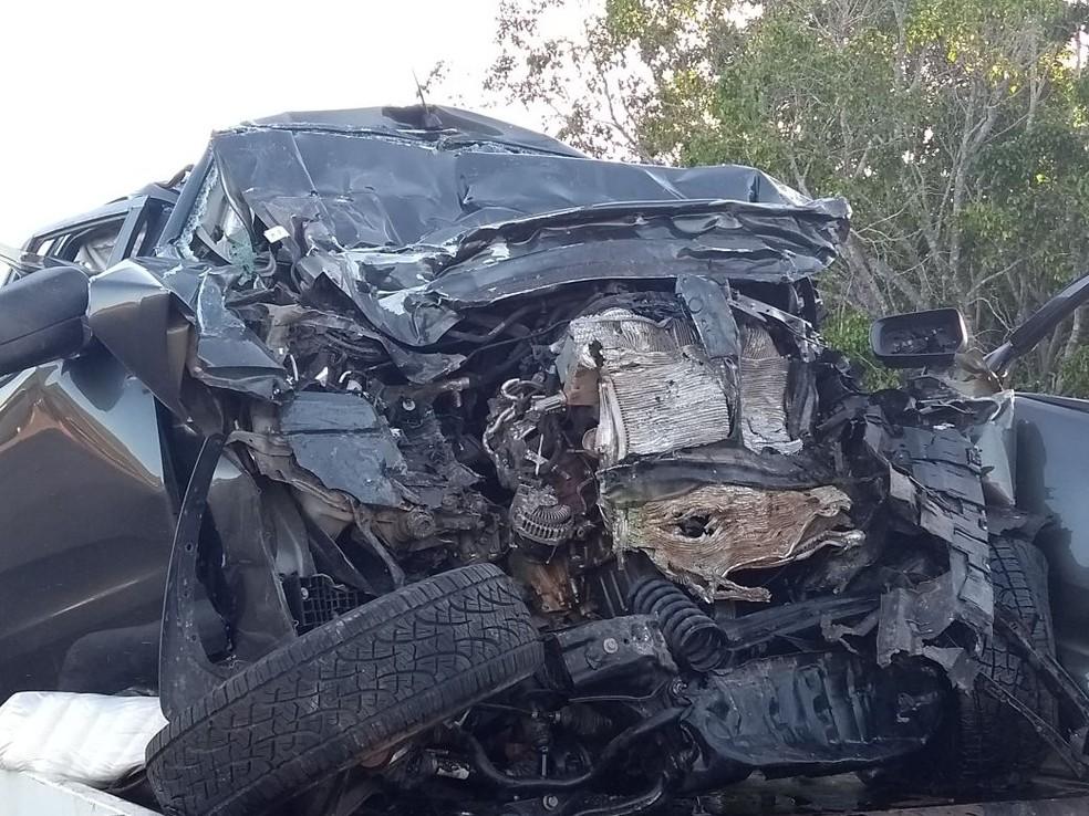 Três pessoas morreram no acidente em Gurupi (Foto: Débora Ciany/TV Anhanguera)