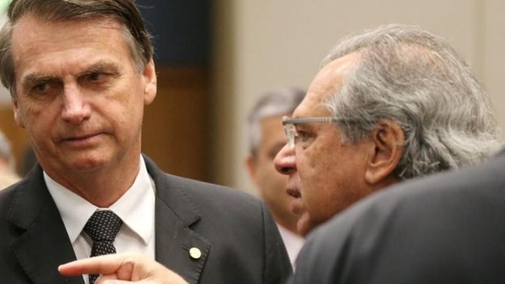Bolsonaro e Guedes já sinalizaram intenção de dar fim a 'inclinações bolivarianas' do bloco — Foto: Reuters