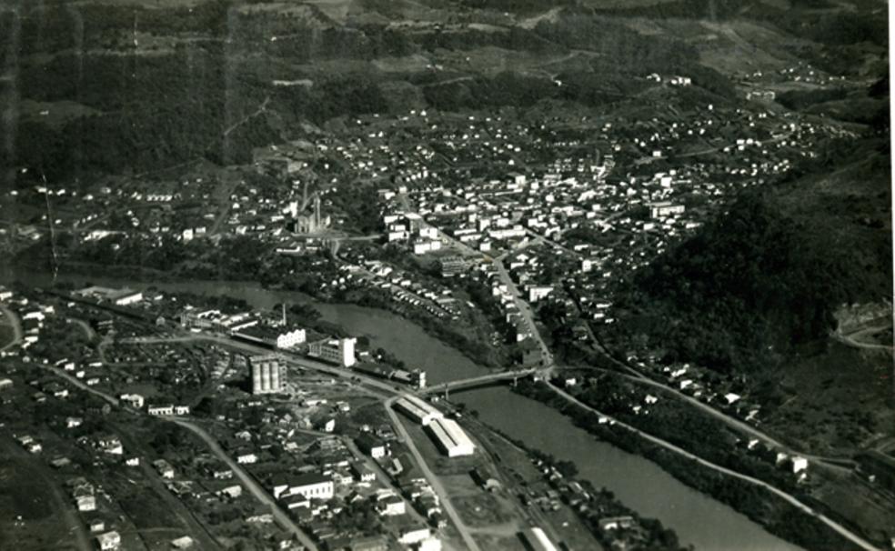 Joaçaba na década de 1950 (Foto: Arquivo Histórico de Joaçaba)