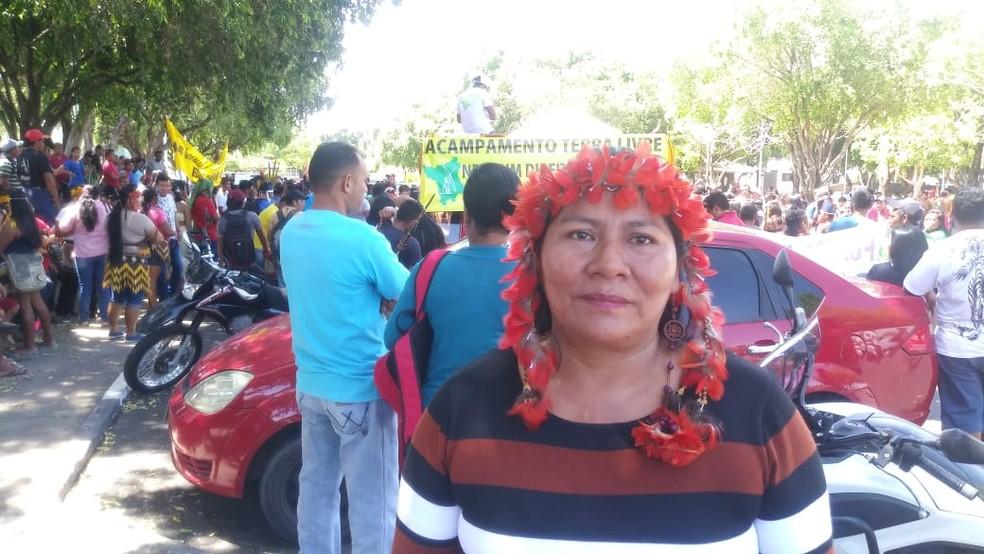 Líder indígena, Edite Andrade — Foto: Jackson Félix/G1 RR