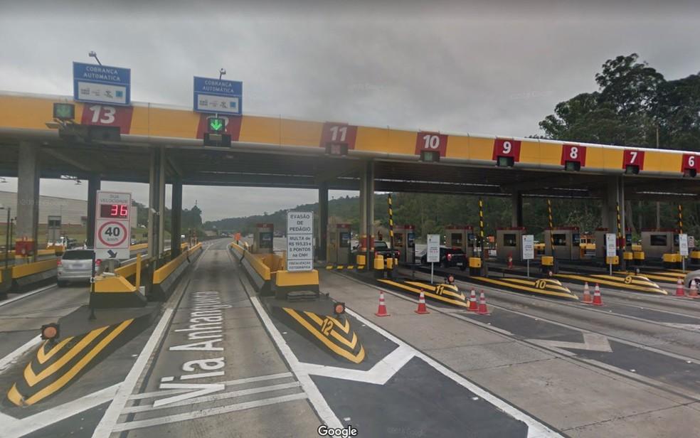 Praça de pedágio na Anhanguera — Foto: Reprodução/Google Maps