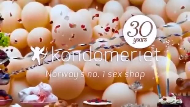 Propaganda em comemoração aos 30 anos da rede de sexshop da Kondomeriet (Foto: Divulgação)