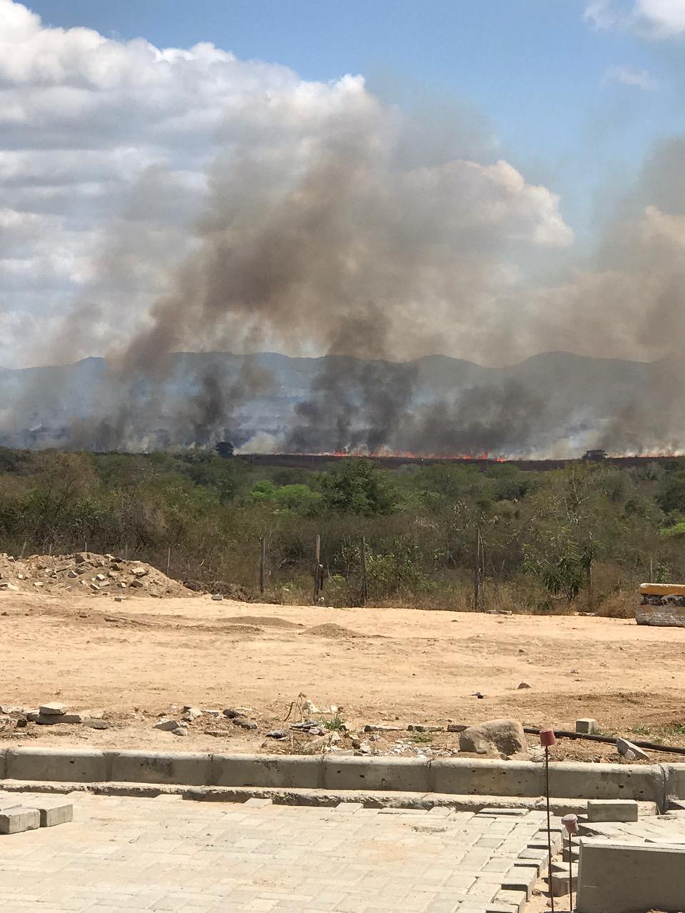 Incêndio é registrado na zona rural de Caruaru