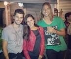 Lucas Malvacini, Bruna Alvin e um amigo | Arquivo pessoal