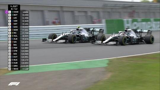 """Hamilton diz que poderia ter fechado Bottas no início mas aliviou: """"Existe  respeito entre nós"""""""