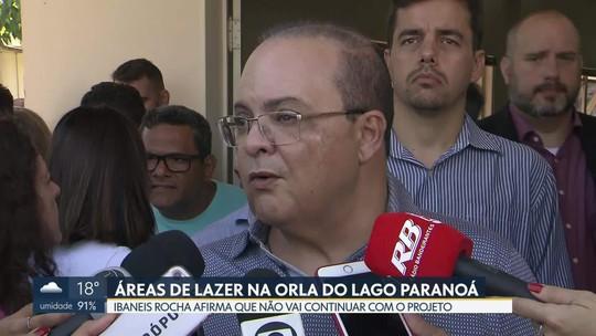 Ibaneis Rocha afirma que não vai fazer obras na orla do Lago Paranoá