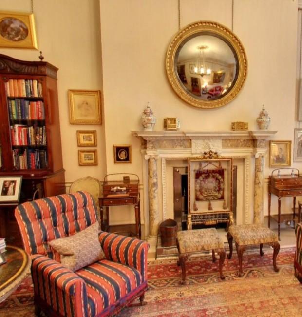 Interior da casa do Príncipe Charles: sala Lancaster (Foto: Google Arts&Culture/ Reprodução)