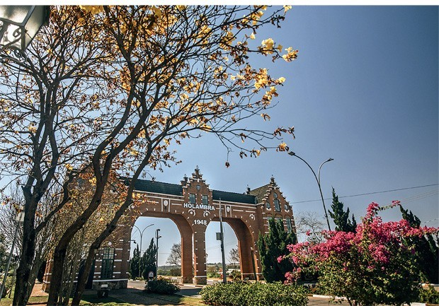 O portal turístico de Holambra (Foto: Divulgação)