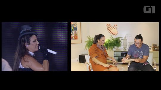 G1 desafia Ivete: cantora vê shows antigos no Festival de Verão e tenta acertar em qual ano foi gravado; assista