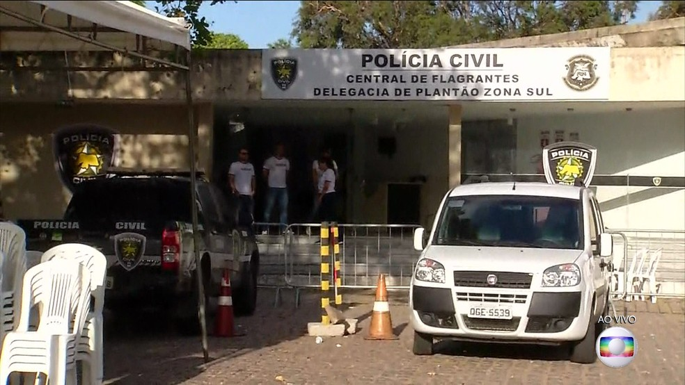 Central de flagrantes de Natal fechada por conta de paralisação dos policiais civis — Foto: Reprodução/TV Globo