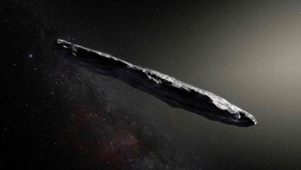 Esta é a imagem que a Agência Espacial Europeia (ESA, na sigla em inglês) fez de Oumuamua em junho passado (Foto: AFP via BBC)