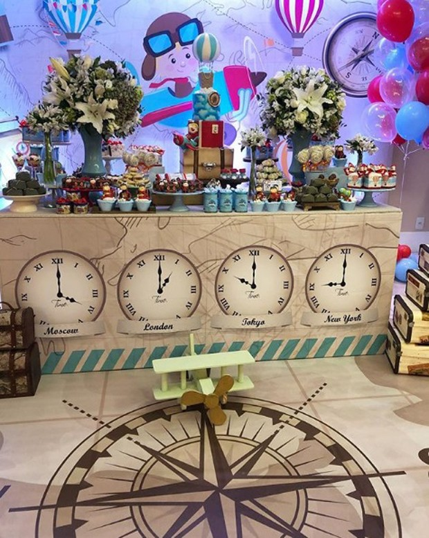 Detalhe da decoração da festa de Theo, filho de Rômulo Estrela e Nilma Quariguasi (Foto: Reprodução/Instagram)