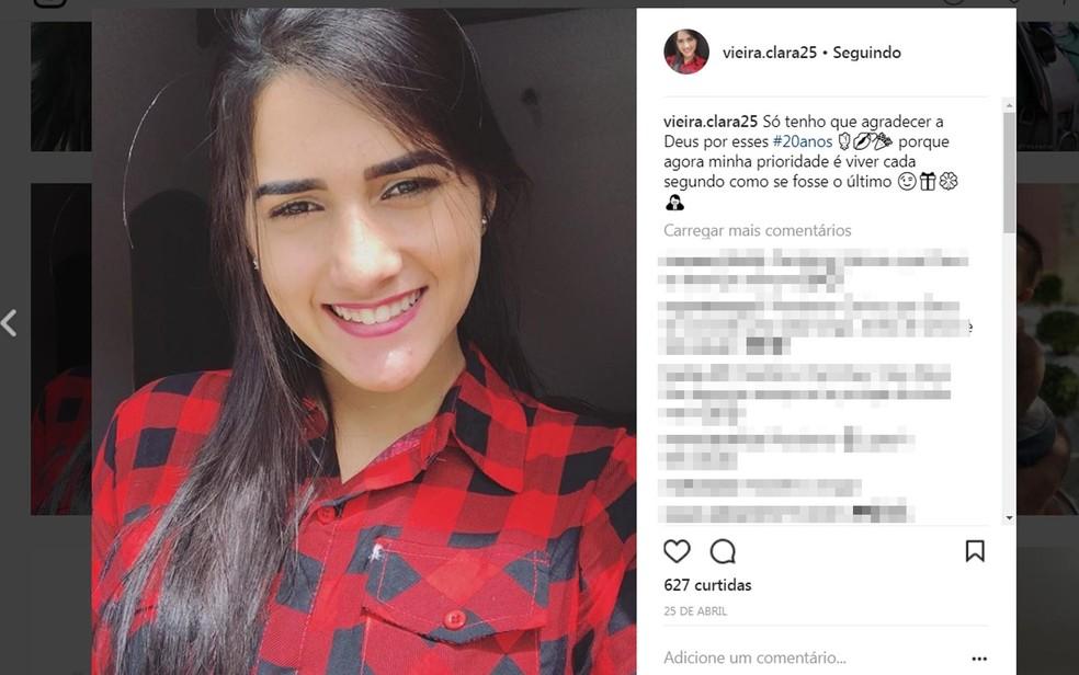 Jovem de 20 anos fez denúncia contra ex-marido na Bahia (Foto: Reprodução/ Instagram)