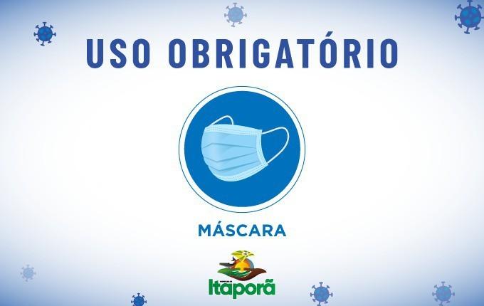 Itaporã, MS, mantém uso obrigatório de máscara e álcool para higienizar as mãos em espaços fechados