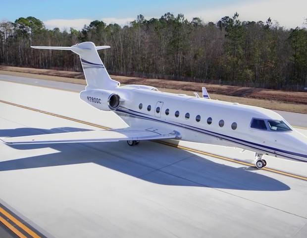 Um Gulfstream G280, mesmo modelo do jatinho de George Clooney (Foto: reprodução)