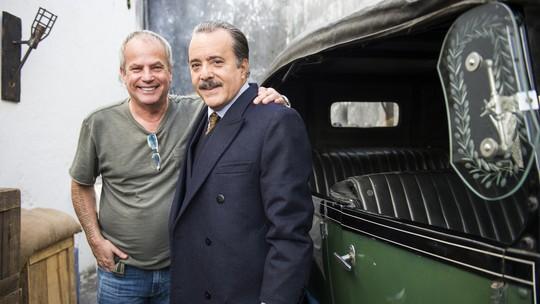 Tony Ramos dá boas-vindas e Jayme Monjardim elogia protagonistas de 'Tempo de Amar'