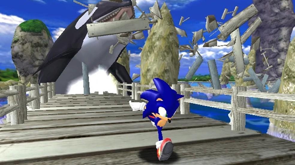 Sonic Adventure trouxe o primeiro game do personagem em 3D com um novo visual radical — Foto: Reprodução/Sonic Fandom