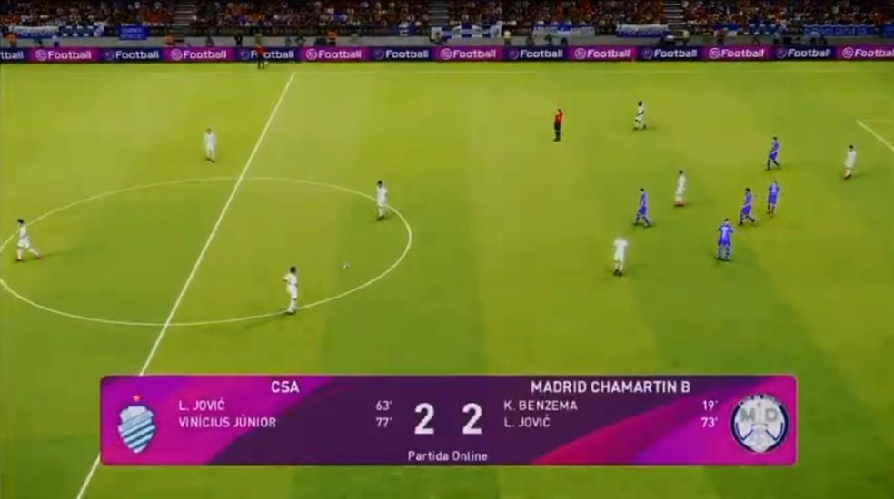 CSA e CSE empataram por 2 a 2 duas vezes no e-Alagoano — Foto: Reprodução/FAF TV