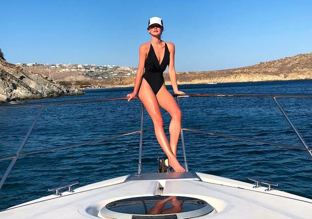 Marina Ruy Barbosa na Grécia (Foto: Reprodução)