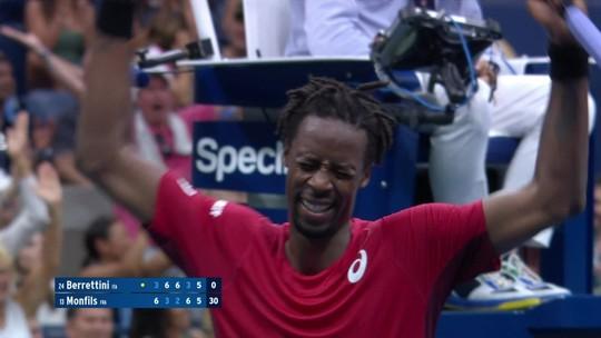 Em jogo emocionante, Monfils salva match points, mas Berrettini vence e vai à semi do US Open
