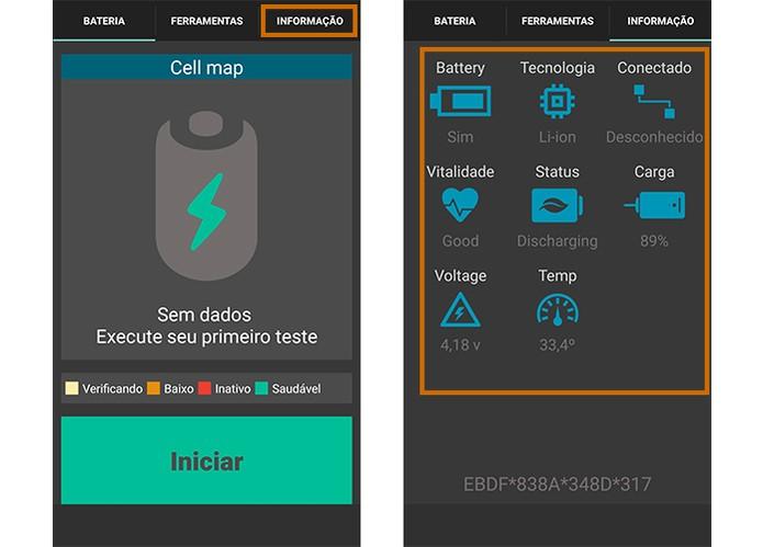 Verifique todas as informações sobre a bateria do Android na aba de informações (Foto: Reprodução/Barbara Mannara)