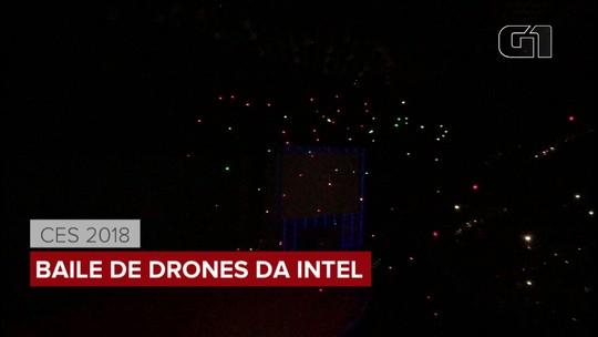 Intel faz baile voador de drones, em meio a polêmica sobre falhas em processadores