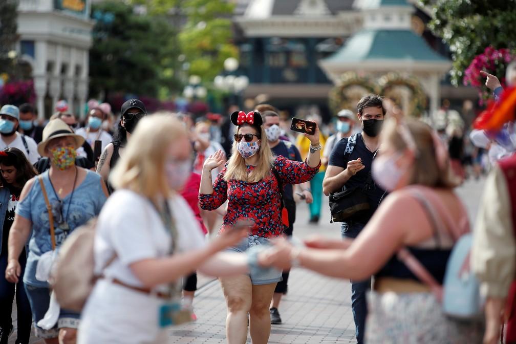Disney de Paris em 17 de junho de 2021, após 8 meses fechada pela pandemia — Foto: Gonzalo Fuentes/Reuters
