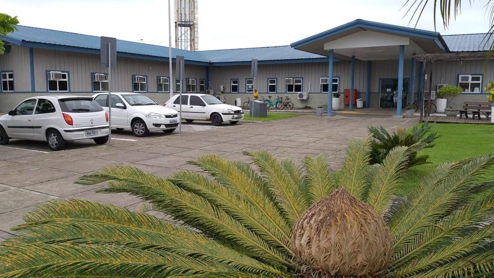 Hospital onde bebê está internado em Camboriú, no Litoral Norte. — Foto: Luiz Souza/NSC TV