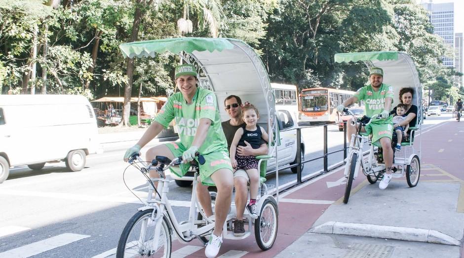 Carona Verde dá caronas gratuitas pela Avenida Paulista, em São Paulo (Foto: Divulgação)