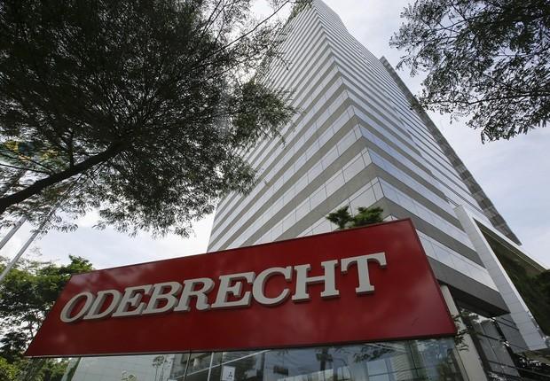 Fachada da construtora Odebrecht em São Paulo (Foto: Sebastião Moreira/EFE)