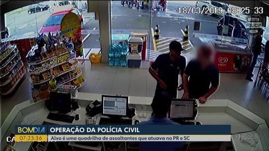 Polícia Civil faz operação contra quadrilha suspeita de roubar joalherias no PR e em SC