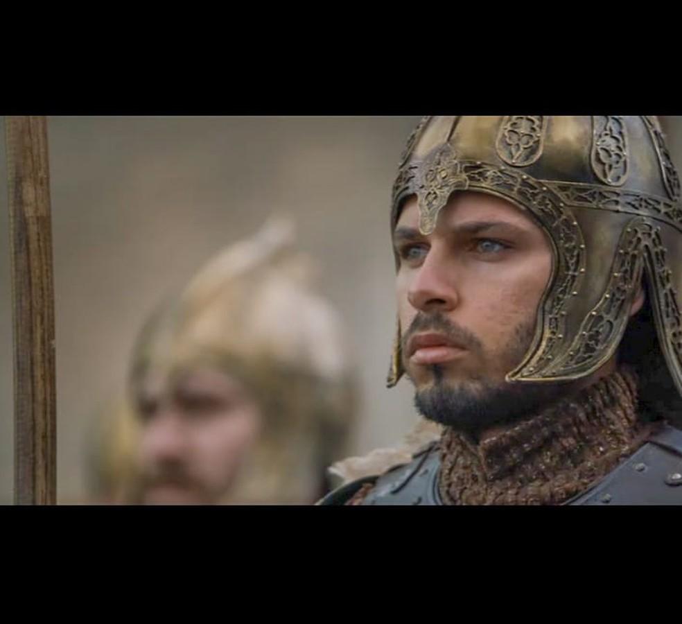 Baiano apareceu interpretando um soldado — Foto: Arquivo pessoal