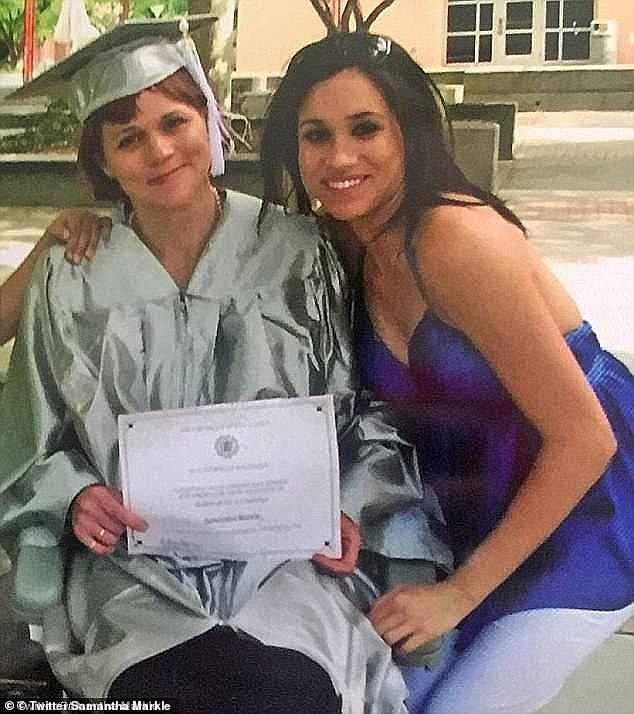 Meghan Markle e sua irmã, Samantha Markle (Foto: Twitter/Reprodução)