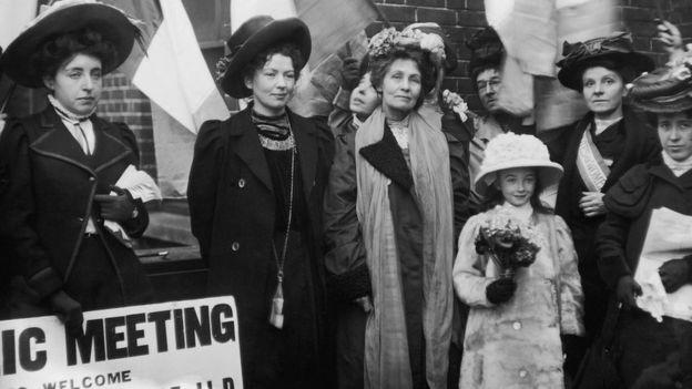 O movimento sufragista se inspirou na rainha guerreira em sua luta pelo voto (Foto: Getty Images via BBC News)