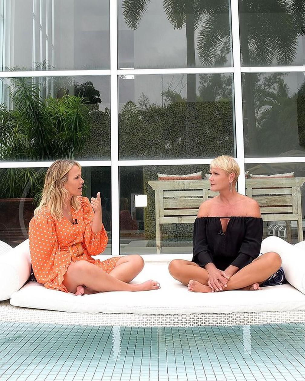 Xuxa grava com Eliana em sua mansão — Foto: Reprodução/Instagram