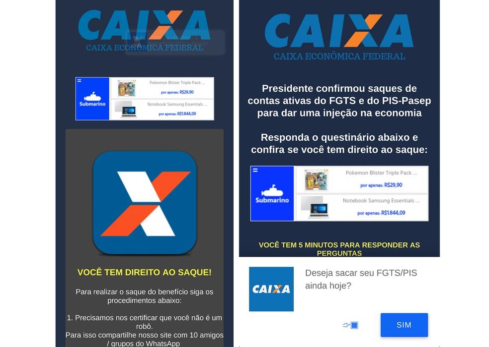 Golpe no WhatsApp simula liberação do FGTS e atinge 100 mil brasileiros — Foto: Reprodução/dfndr lab