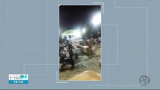 Confusão durante festa deixa feridos na praça Mestre Dominguinhos, em Garanhuns