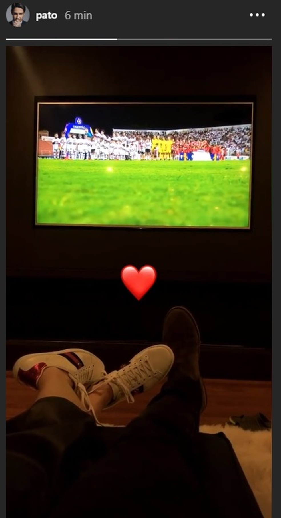 Alexandre Pato postou no Instagram — Foto: Reprodução / Instagram