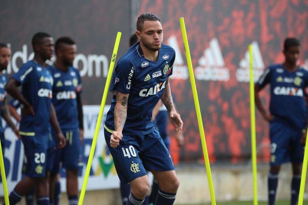 Thiago Santos não entrou em campo neste ano pelo Flamengo (Foto: Gilvan de Souza/Flamengo)