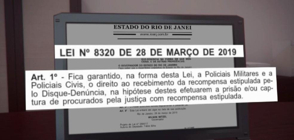 Lei permite que policiais tenham direito à recompensa do Disque-Denúncia — Foto: Reprodução