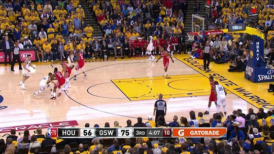 Com despertar de Curry e brilho de Durant, Warriors massacram os Rockets