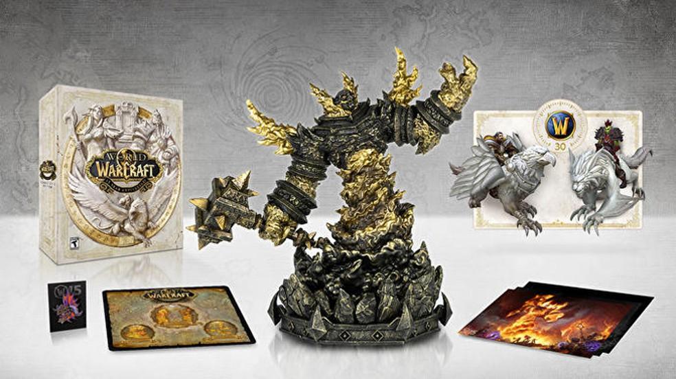 A edição de colecionador de 15 anos de World of Warcraft Classic trará uam estátua de Ragnaros e vários outros extras — Foto: Reprodução/Eurogamer