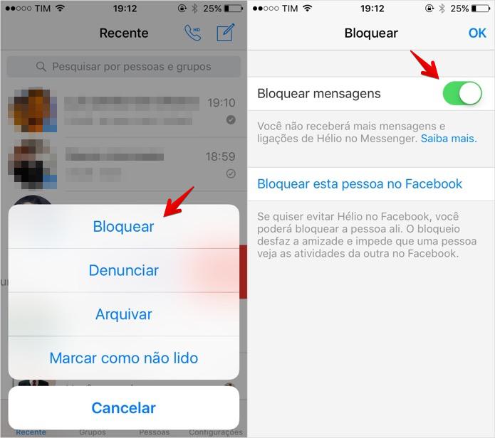 Tudo sobre o Facebook Messenger - bloquear denunciar