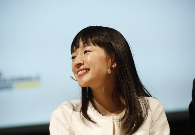 A autora japonesa Marie Kondo (Foto: Marco Piraccini\Mondadori Portfolio\Mondadori Portfolio via Getty Images)