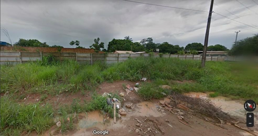 Corpo da vítima foi encontrado em um terreno baldio da Zona Sul de Porto Velho.  — Foto: Reprodução/Google Maps